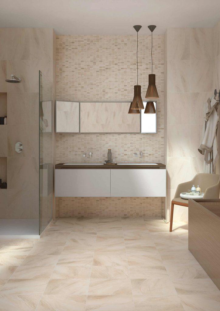 Mosaikfliesen Und Steinfliesen Im Badezimmer ...