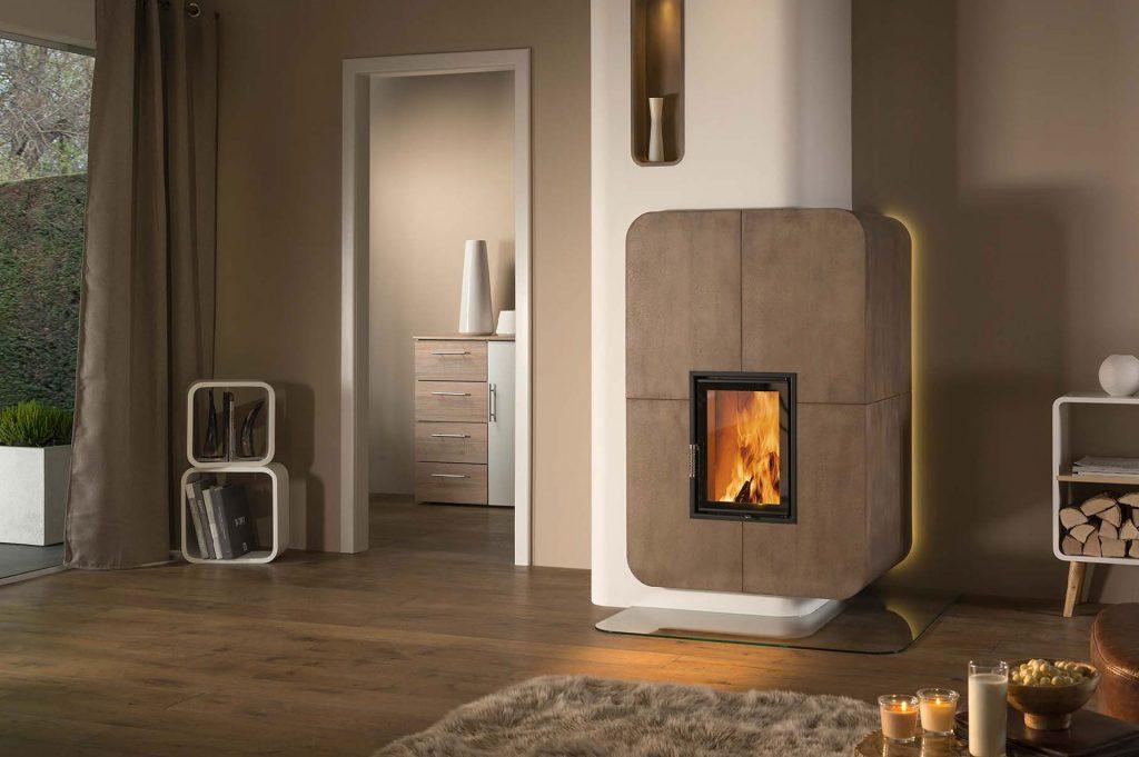 moderner kachelofen waerme. Black Bedroom Furniture Sets. Home Design Ideas